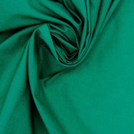 100% cotton - plain emerald