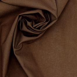 100% cotton - plain chocolat