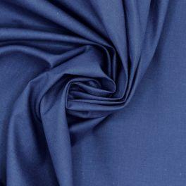 Tissu 100% coton uni bleu roy