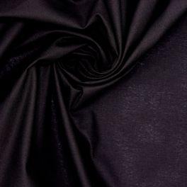 Tissu 100% coton uni noir