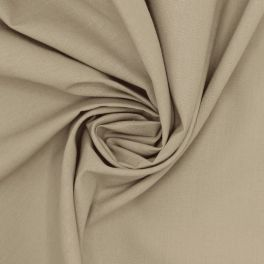 100% cotton - plain pebble beige