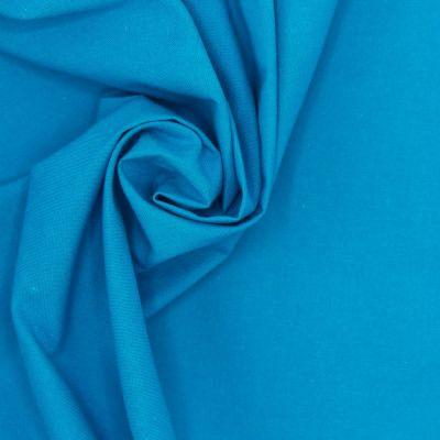 100% cotton - plain gentian blue