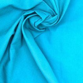 Tissu 100% coton uni turquoise