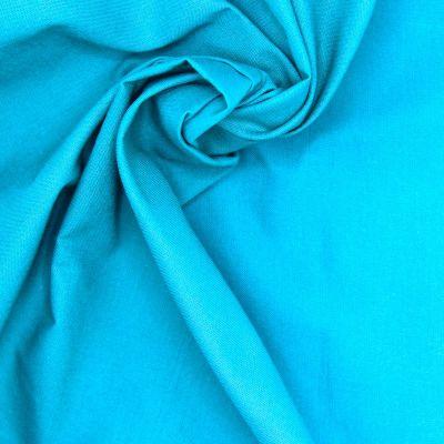 100% cotton - plain turquoise