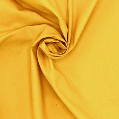 Tissu 100% coton uni curcuma