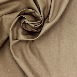 100% cotton - plain nut brown