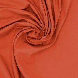 Tissu 100% coton uni brique