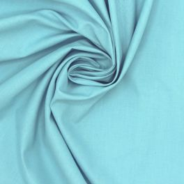 100% cotton - plain caribbean sea blue