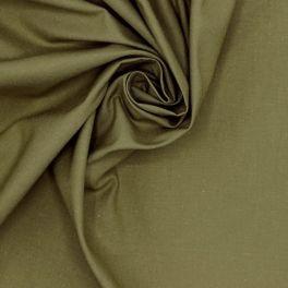 Tissu 100% coton uni kaki