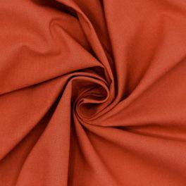 Tissu 100% coton uni terracotta