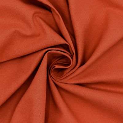 100% cotton - plain terracotta red