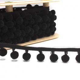 Fantasie biesband met pompons - zwart