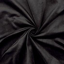 Stretch gladde fluweel - zwart