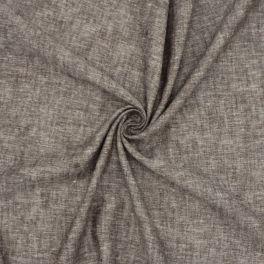 Tissu en lin et viscose brun chiné