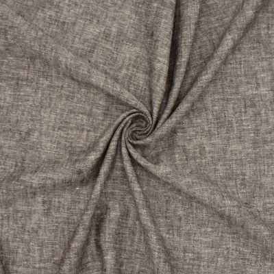 linen and viscose fabric mottled - brown