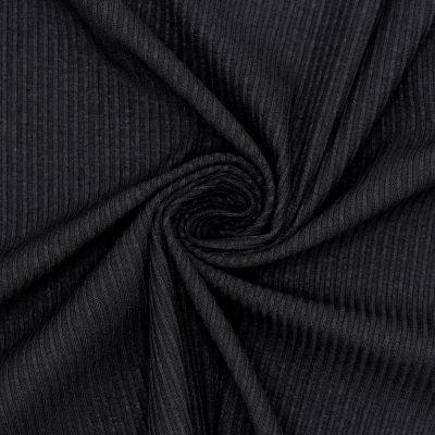 Ribbed jersey - black