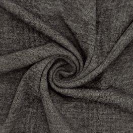 Gebreide stof in polyester - donkergrijs