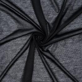 Tissu en jersey fin noir
