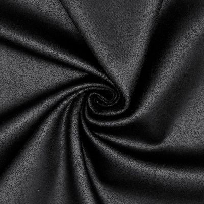 Jersey fabric with old leather effect - black