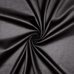 Milano jersey fabric with waxed effect - black