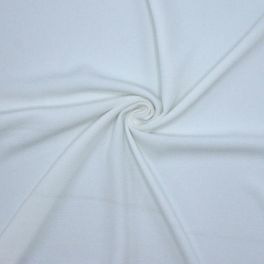 Crêpe fabric with relief - plain white