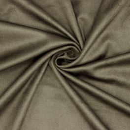 Extensible suede fabric - kaki