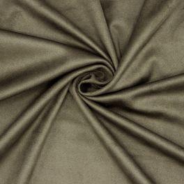 Tissu suédine extensible kaki