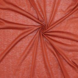 Tissu maille légère en polyester paprika