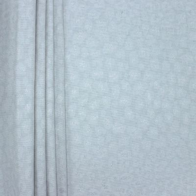 Jacquard upholstery fabric with silver thread