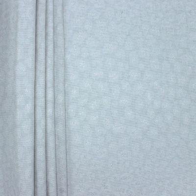 Tissu d'ameublement jacquard fil argenté