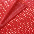 Waterproof translucent fabric with dots - red