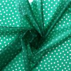 Waterproof translucent fabric with dots - green