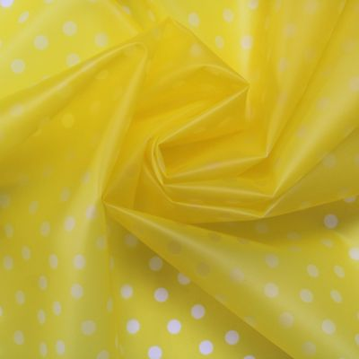 Waterproof translucent fabric with dots - yellow