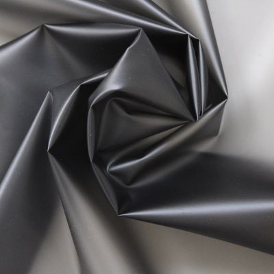 Waterproof translucent fabric with dots - black