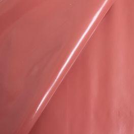 Plain oilcloth - coral