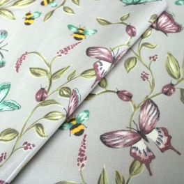 Oilcloth with prints of insects