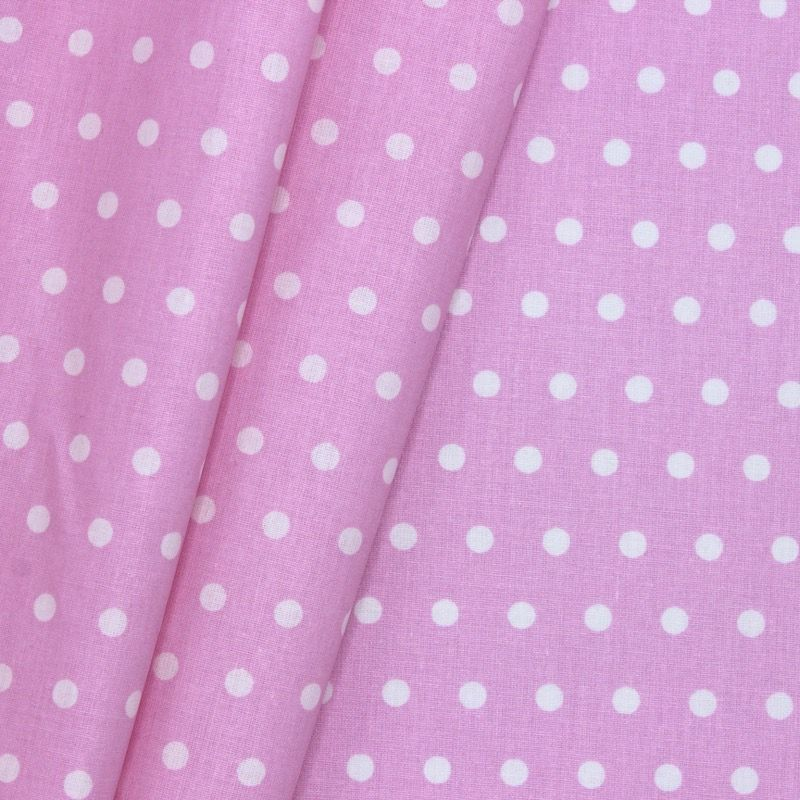 Coated cotton with spots - pink background