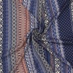 Polyester fabric with prints