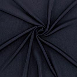 Tissu crêpe léger marine
