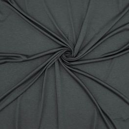 Jersey en viscose et élasthanne gris