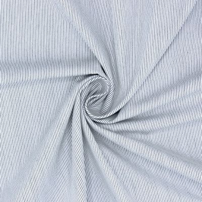 Cotton with antraciete stripes