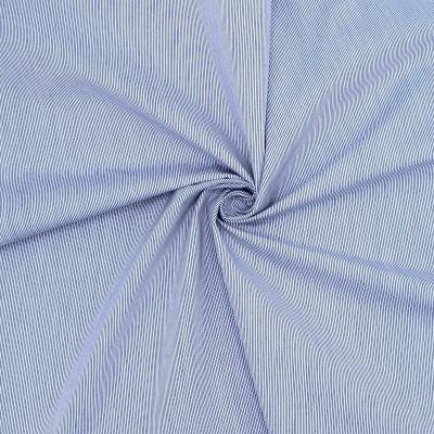 Tissu en coton à rayures bleu