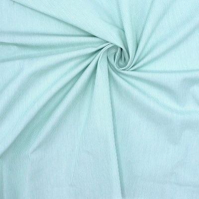 Katoen met fijne groene strepen