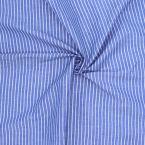 katoen met blauwe strepen