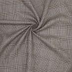 Tissu 100% lin beige et brun