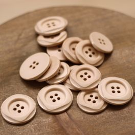 Vintage resin button - beige