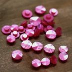 fantasy resin button - candy pink