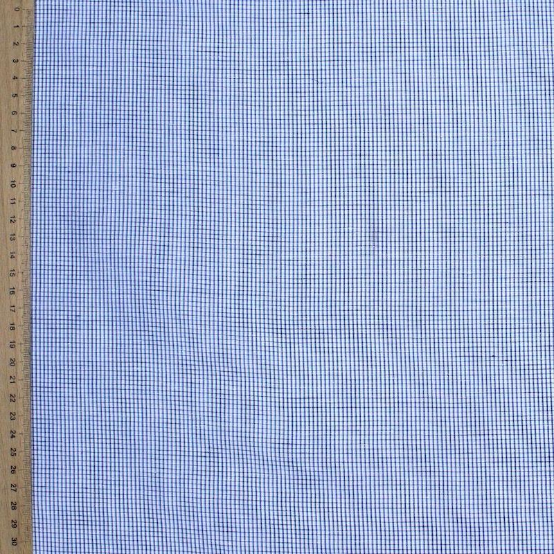 Gevlamd katoen met blauwe ruiten
