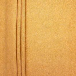Tissu d'ameublement uni jaune avec Lurex doré