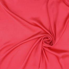 Satin of silk - grenadine red